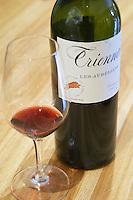 Triennes Les Aureliens red and a glass Domaine de Triennes Nans-les-Pins Var Cote d'Azur France