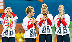Women's hockey medal ceremony at the Rio 2016 Olympics at the Olympic Hockey Centre in Rio de Janeiro, Brazil.