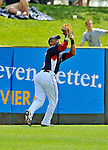 15 March 2008: Washington Nationals' outfielder Alex Escobar catches a fly ball during a Spring Training game against the Los Angeles Dodgers at Space Coast Stadium, in Viera, Florida...Mandatory Photo Credit: Ed Wolfstein Photo