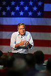 Republican presidential candidate Jeb Bush speaks to about 200 people at a town hall meeting in Carson City, Nev., on Friday, July 17, 2015. <br /> Photo by Cathleen Allison