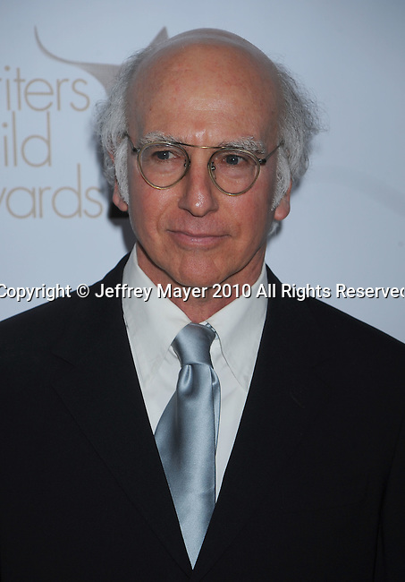 CENTURY CITY, CA. - February 20: Larry David arrives at the 2010 Writers Guild Awards at the Hyatt Regency Century Plaza Hotel on February 20, 2010 in Los Angeles, California.