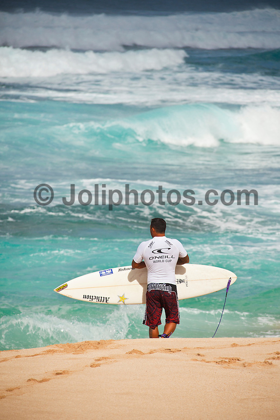 Sunset Beach, Oahu Hawaii, (Wednesday November 24, 2010) Sunny Garcia (HAW).  .O'N EILL WORLD CUP OF SURFING.  Sunset Beach November 24 - December 6.To be held on the best five days of surf during the period got underway today with nine heats of the Men's  Round 1 and two Rounds of the Women's.. The Men's Prize Purse is: $145,000 while the Women's Prize Purse is $130,000.The event is a Men's 6-Star Prime Qualifying Series event and is the final event of the 2010 men's Qualifying season..The women's contest is the final ASP Women's World Championship Tour event of 2010..Photo: joliphotos.com