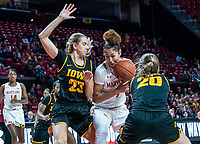 COLLEGE PARK, MD - FEBRUARY 13:  during a game between Iowa and Maryland at Xfinity Center on February 13, 2020 in College Park, Maryland.