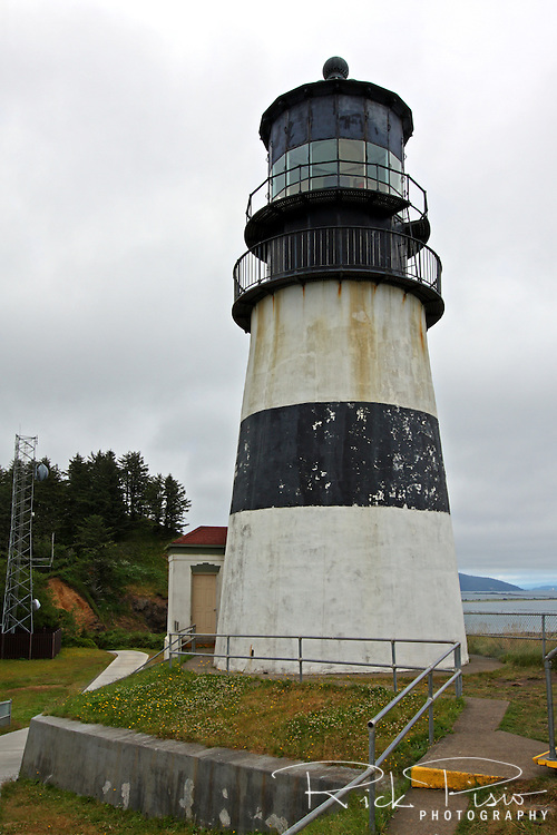 Cape Disappointment Lighthouse in Southern Washington at the opening of the Columbia River is the oldest operating lighthouse on the West Coast.