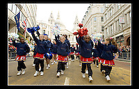 Ascension Eagles - Lord Mayor's Show 2005 - Central London - 12th November 2005 - <br /> <br /> Ascension Eagles Cheerleaders began in November 1996 as an outreach of Ascension Church Centre, Custom House, Newham, London. Rev. Jonathan Brice and his wife Shara, initially started the program as a way to keep youth off the streets &amp; engaged in an activity that promotes both fitness &amp; social interaction.<br /> <br /> Website: http://www.ascensioneagles.com/