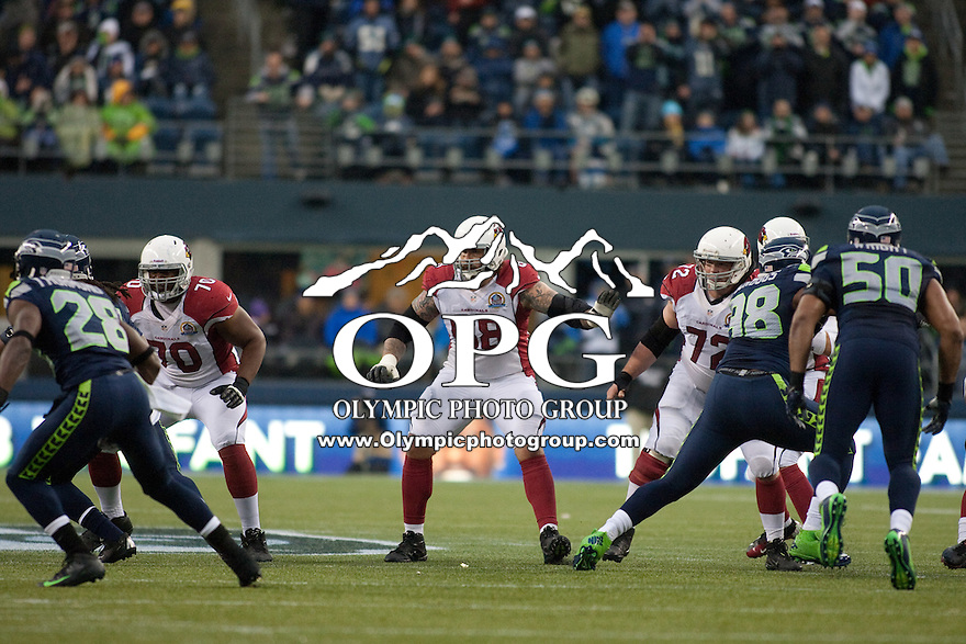 DEC 09, 2012:  Arizona's Adam Snyder against the Seattle Seahawks.  Seattle defeated Arizona 58-0 at CenturyLink Field in Seattle, WA...