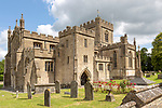 Exterior of the priory church at Edington, Wiltshire, England, UK