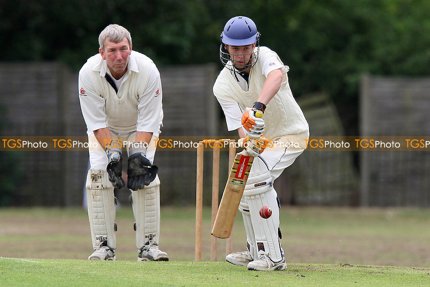 Nathaniel Bastin in batting action for Hornchurch Athletic - Hornchurch Athletic CC 3rd XI vs Tennyson CC 2nd XI - Lords International Cricket League at Raphael Park, Romford, Essex - 14/08/10 - MANDATORY CREDIT: Gavin Ellis/TGSPHOTO - Self billing applies where appropriate - Tel: 0845 094 6026