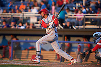 Williamsport Crosscutters outfielder Jose Pujols (23) at bat during a game against the Batavia Muckdogs on July 15, 2015 at Dwyer Stadium in Batavia, New York.  Williamsport defeated Batavia 6-5.  (Mike Janes/Four Seam Images)
