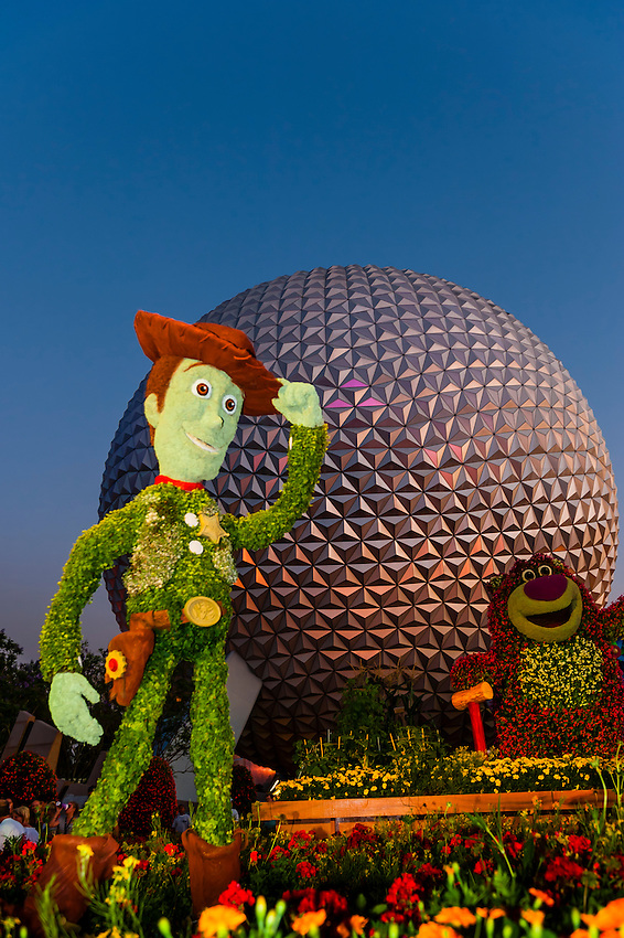 Toy Story 3 Topiary (Epcot Flower & Garden Festival), Epcot, Walt Disney World, Orlando, Florida USA
