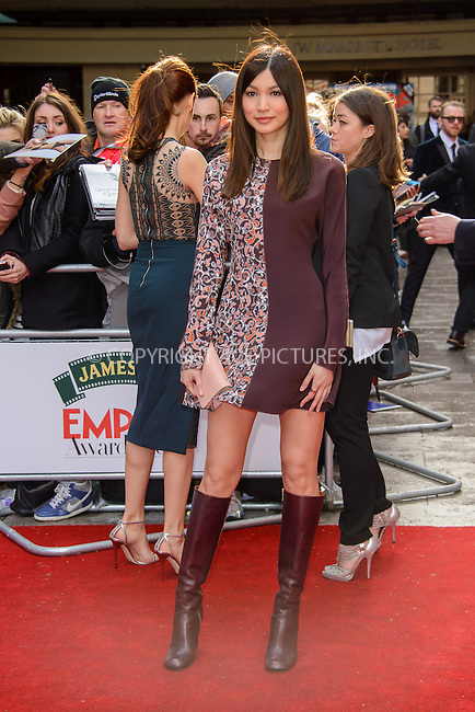 WWW.ACEPIXS.COM<br /> <br /> March 29 2015, London<br /> <br /> Gemma Chan arriving at the Jameson Empire Awards at the Grosvenor Hotel on March 29 2015 in London.<br /> <br /> By Line: Famous/ACE Pictures<br /> <br /> <br /> ACE Pictures, Inc.<br /> tel: 646 769 0430<br /> Email: info@acepixs.com<br /> www.acepixs.com