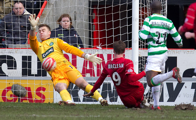 Artur Boruc spreads himself to deny Steven MacLean a hat-trick