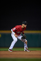 Billings Mustangs third baseman Victor Ruiz (26) during a Pioneer League game against the Grand Junction Rockies at Dehler Park on August 14, 2019 in Billings, Montana. Grand Junction defeated Billings 8-5. (Zachary Lucy/Four Seam Images)