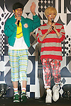 "(L to R) Kemio, Youdi Kondo, September 28, 2014, Tokyo, Japan : (L to R) Models Kemio and Youdi Kondo wearing fashion brand ""Zipper"" walk down the catwalk during the ""Moshi Moshi Nippon Festival 2014"" on September 28, 2014 in Tokyo, Japan. Several famous Idols such as Dempagumi idol group, Kyary Pamyu Pamyu and Harayuku models attend the Moshi Moshi Nippon Festival 2014 to promotes the Japanese pop culture (fashion, anime, music and food) to non-Japanese people. (Photo by Rodrigo Reyes Marin/AFLO)"