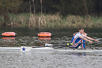 Caversham. Berkshire. UK<br /> Barnaby STROUD-TURP.<br /> 2016 GBRowing U23 Trials at the GBRowing Training base near Reading, Berkshire.<br /> <br /> Monday  11/04/2016 <br /> <br /> [Mandatory Credit; Peter SPURRIER/Intersport-images]