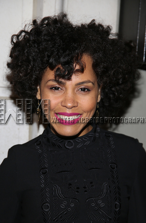 Amirah Vann attend the Manhattan Theatre Club's Broadway debut of August Wilson's 'Jitney' at the Samuel J. Friedman Theatre on January 19, 2017 in New York City.