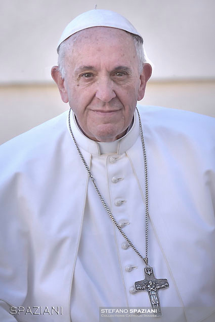 Pope Francis during of a weekly general audience at St Peter's square in Vatican.November 22, 2017