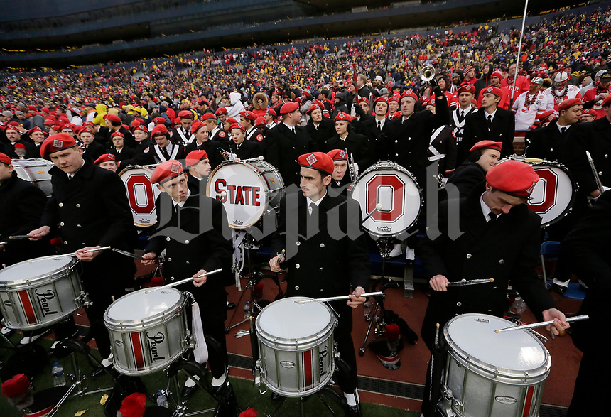 The Ohio State Marching Band performs following the NCAA football game against the Michigan Wolverines at Michigan Stadium in Ann Arbor on Nov. 25, 2017. Ohio State won 31-0. [Adam Cairns/Dispatch]