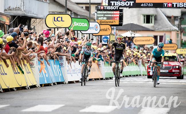 Simon Yates (GBR/Mitchelton-Scott) wins stage 12 ahead of Pello Bilbao (ESP/Astana) & Gregor Mühlberger (AUT/Bora-Hansgrohe)<br /> <br /> Stage 12: Toulouse to Bagnères-de-Bigorre(209km)<br /> 106th Tour de France 2019 (2.UWT)<br /> <br /> ©kramon