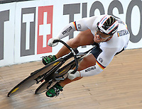 CALI – COLOMBIA – 01-03-2014: Robert Forstemann de Alemania en la prueba Embalaje Hombres en el Velodromo Alcides Nieto Patiño, sede del Campeonato Mundial UCI de Ciclismo Pista 2014. / Robert Forstemann of Germany during the test of Men´s Sprint in Alcides Nieto Patiño Velodrome, home of the 2014 UCI Track Cycling World Championships. Photos: VizzorImage / Luis Ramirez / Staff.