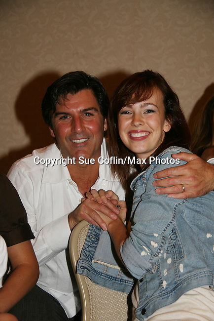 Vincent Irizarry & Bobbie Eakes attend All My Children Fan Luncheon on September 13, 2009 at the New York Helmsley Hotel, NYC, NY. (Photo by Sue Coflin/Max Photos)
