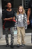 www.acepixs.com<br /> September 14, 2017 New York City<br /> <br /> Zahara Jolie-Pitt and Vivienne Marcheline Jolie-Pitt seen on September 14, 2017 in New York City.<br /> <br /> Credit: Kristin Callahan/ACE Pictures<br /> <br /> <br /> Tel: (646) 769 0430<br /> e-mail: info@acepixs.com