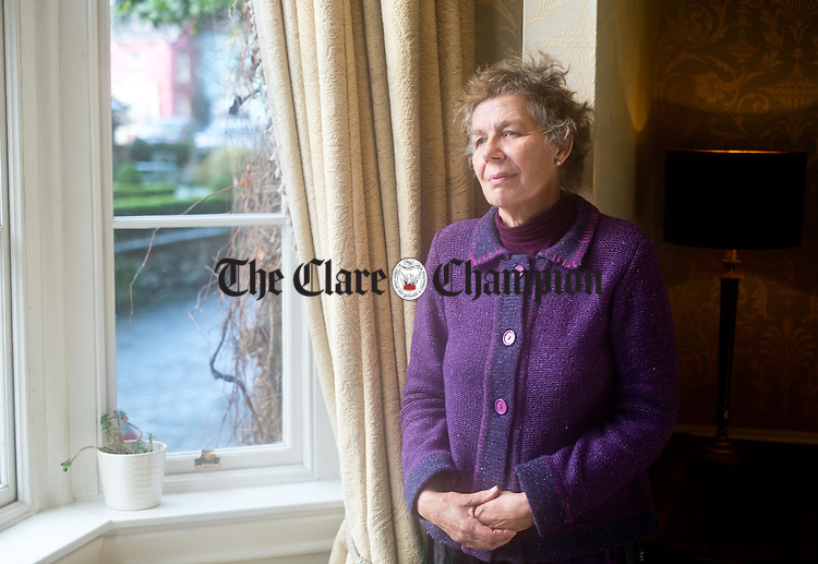 Scariff's Lynn Von Lintzgy relaxes in the Old Ground Hotel during a visit to Ennis, Photograph by John Kelly.