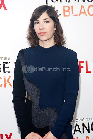 NEW YORK, NEW YORK - MAY 15, 2014:  Carrie Brownstein attends the Season 2 Premiere of 'Orange is the New Black' hosted by Netflix at The Ziegfeld Theater in New York, New York on Thursday May 15, 2014. Photo credit:RTNHargrove/MediaPunch