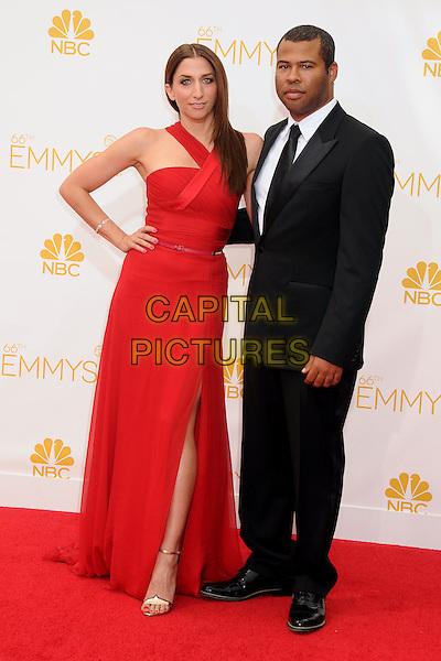 25 August 2014 - Los Angeles, California - Chelsea Peretti, Jordan Peele. 66th Annual Primetime Emmy Awards - Arrivals held at Nokia Theatre LA Live. <br /> CAP/ADM/BP<br /> &copy;BP/ADM/Capital Pictures