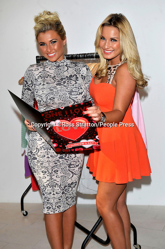 Sam and Billie Faiers open their new pop-up shop 'Minnies Boutique' in Cabot Circus, Bristol, UK - 2nd February 2013..Photo by Ross Stratton