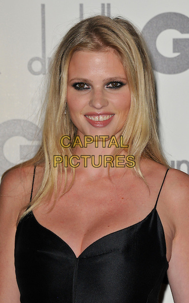 Lara Stone.GQ Men of the Year Awards at the Royal Opera House, Covent Garden, London, England..September 4th 2012.headshot portrait black eyeliner make-up cleavage .CAP/WIZ.© Wizard/Capital Pictures.