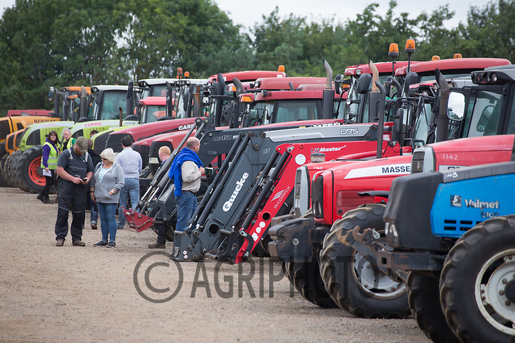 Used tractors in an auction <br /> Picture Tim Scrivener 07850 303986<br /> &hellip;.covering agriculture in the UK&hellip;.