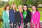 Former Kerry Roses Michelle Moriarty 1995, Catherine Power 1984, Sheila Horgan 1960, Rebecca Wall 1998 and Mary Adams 1973. pictured at the unveiling of the Rose monument in Tralee Town Park on Thursday.