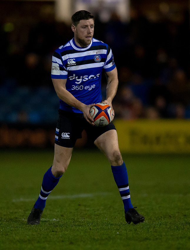 Bath Rugby's Rhys Priestland<br /> <br /> Photographer Bob Bradford/CameraSport<br /> <br /> Gallagher Premiership - Bath Rugby v Gloucester Rugby - Monday 4th February 2019 - The Recreation Ground - Bath<br /> <br /> World Copyright © 2019 CameraSport. All rights reserved. 43 Linden Ave. Countesthorpe. Leicester. England. LE8 5PG - Tel: +44 (0) 116 277 4147 - admin@camerasport.com - www.camerasport.com