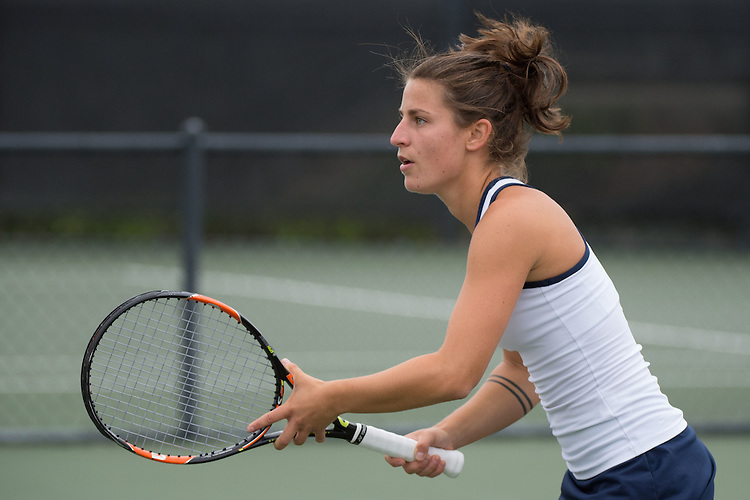 April 22, 2015; San Diego, CA, USA; San Diego Toreros tennis player Dana Oppinger during the WCC Tennis Championships at Barnes Tennis Center.