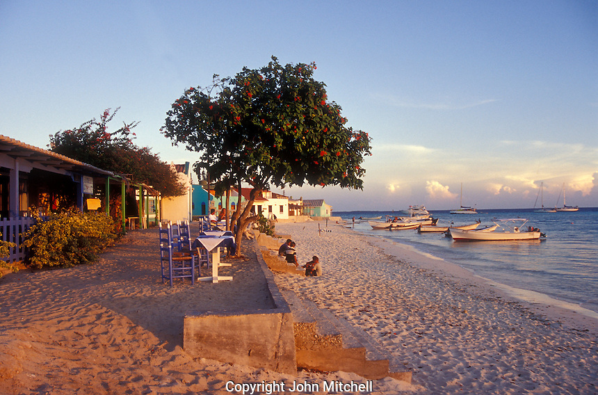 Restaurant on the beach, Gran Roque, Los Roques islands, Venezuela