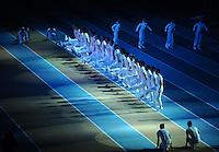 ISTAMBUL, TURQUIA, 09 DE MARCO 2012 - MUNDIAL DE ATLETISMO INDOOR - <br /> Atores se apresentam durante cerimonia de abertura do Mundial de Atlestismo Indoor na Arena Atakoy em Istambul na Turquia, nesta sexta-feira, 09 marco. (FOTO: CHRISTIAN CHARISIUS  / BRAZIL PHOTO PRESS).
