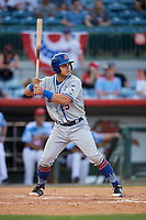 St. Lucie Mets catcher Brandon Brosher (25) at bat during a game against the Florida Fire Frogs on April 19, 2018 at Osceola County Stadium in Kissimmee, Florida.  St. Lucie defeated Florida 3-2.  (Mike Janes/Four Seam Images)