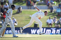 23rd November 2019; Mt Maunganui, New Zealand;  England's Stuart Broad bowling on Day 3, 1st Test match between New Zealand versus England. International Cricket at Bay Oval, Mt Maunganui, New Zealand.  - Editorial Use