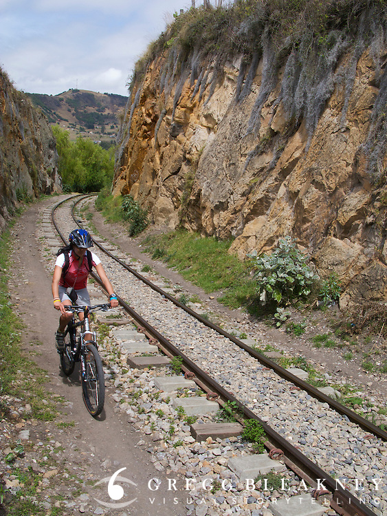 Cycling on a trail in Suesca, near Bogota - Colombia