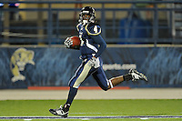 6 November 2010:  FIU wide receiver T.Y. Hilton (4) returns a kickoff for a touchdown in the first quarter as the FIU Golden Panthers defeated the University of Louisiana-Monroe Warhawks, 42-35 in double overtime, at FIU Stadium in Miami, Florida.