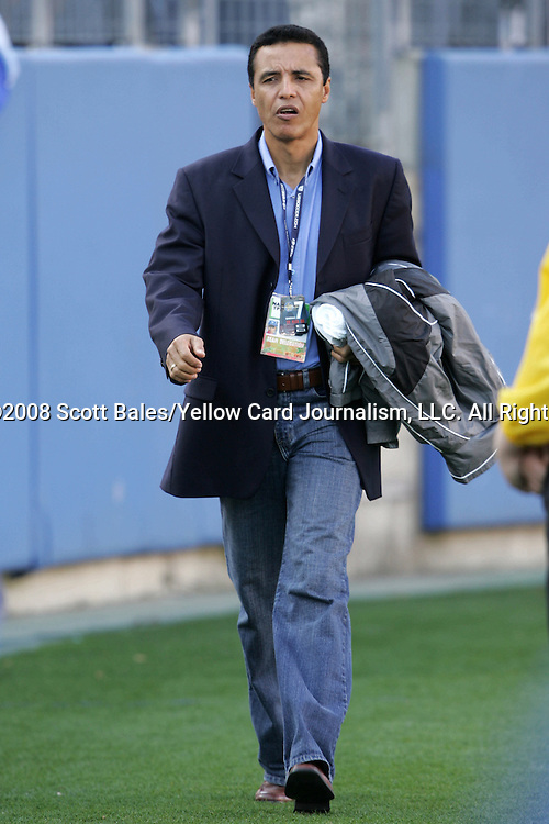 20 March 2008: Honduras U-23 head coach Alexis Mendoza. The Honduras U-23 Men's National Team defeated the Guatemala U-23 Men's National Team 6-5 on penalty kicks after a 0-0 overtime tie at LP Field in Nashville,TN in a semifinal game during the 2008 CONCACAF Men's Olympic Qualifying Tournament. With the penalty kick victory, Honduras qualifies for the 2008 Beijing Olympics.