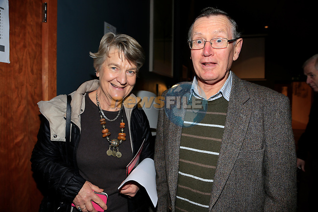 Prue French David Conor French Davis at the Arts Centre Christmas Show<br /> Picture: Fran Caffrey www.newsfile.ie