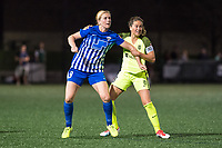 Boston, MA - Saturday April 29, 2017: Natasha Dowie and Lauren Barnes during a regular season National Women's Soccer League (NWSL) match between the Boston Breakers and Seattle Reign FC at Jordan Field.
