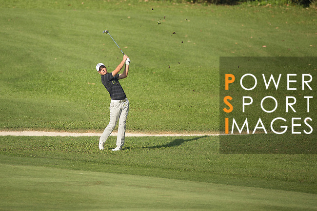 Lionel Weber of France plays an approach shot during the 58th UBS Hong Kong Golf Open as part of the European Tour on 09 December 2016, at the Hong Kong Golf Club, Fanling, Hong Kong, China. Photo by Vivek Prakash / Power Sport Images