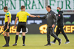 Florian Kohfeldt, Trainer (SV Werder Bremen), Frank Schmidt, Trainer (FC Heidenheim), Felix Brych,<br /> <br /> GER, FC Heidenheim vs. Werder Bremen, Fussball, Bundesliga Religation, 2019/2020, 06.07.2020,<br /> <br /> DFB/DFL regulations prohibit any use of photographs as image sequences and/or quasi-video., <br /> <br /> <br /> Foto: EIBNER/Sascha Walther/Pool/gumzmedia/nordphoto