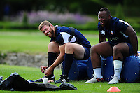 Dave Attwood of Bath Rugby looks on. Bath Rugby pre-season training session on August 9, 2016 at Farleigh House in Bath, England. Photo by: Patrick Khachfe / Onside Images