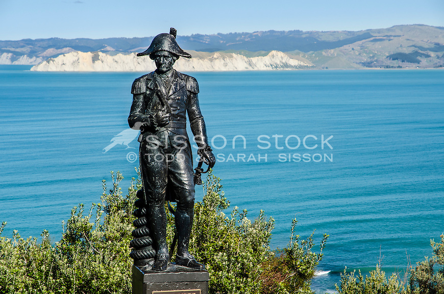 Captain Cook (?) Statue Gisborne NZ. North Island New Zealand.