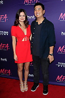 LOS ANGELES - OCT 2: Leah McKendrick, Shin Shimosawa at the premiere of Dark Sky Films' 'M.F.A.' at The London West Hollywood on October 2, 2017 in West Hollywood, California