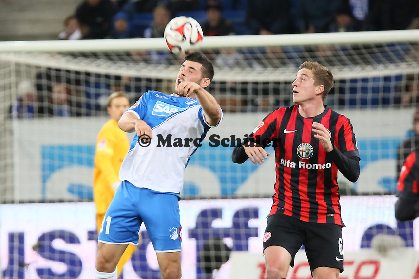 Kevin Volland (Hoffenheim) gegen Bastian Ocziipka (Eintracht) - TSG 1899 Hoffenheim vs. Eintracht Frankfurt, WIRSOL Neckar Arena Sinsheim